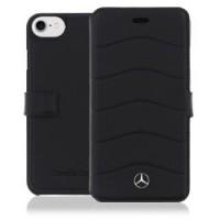 Etui cuir Mercedes pour Apple iPhone 7 noir
