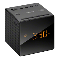 SONY radio réveil design blend in noir