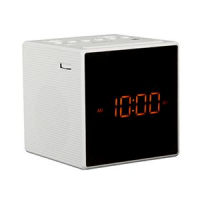 SONY RADIO REVEIL DESIGN BLEND IN DOUBLE ALARME PILES BLANC