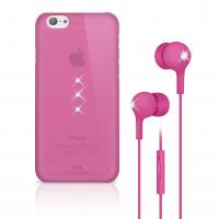WHITE DIAMONDS écouteur Cristal Bundle rose pour APPLE IPHONE 6